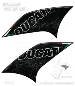 ducati multistrada front side protections pads calibrex