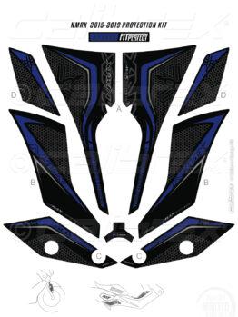 yamaha nmax blue tank pad calibrex
