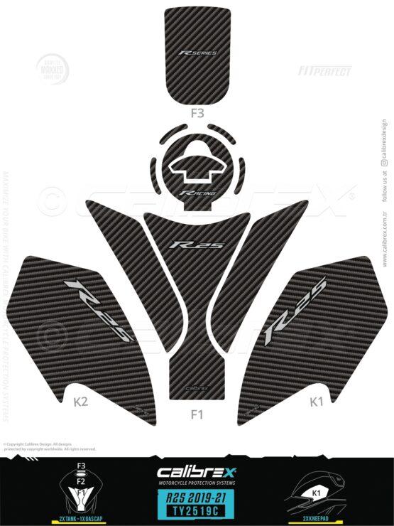 yamaha r25 tank pad 2019 2020 2021 calibrex